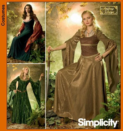 Plus Size Medieval Gown Costume Pattern, Sewing Pattern, Lord of the ...