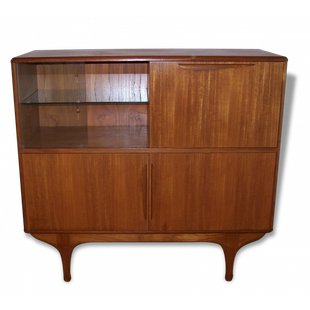 enfilade,haute,midboard,buffet,scandinave,danois,denmark,vintage,1950,1960,teck,bar,rangement,