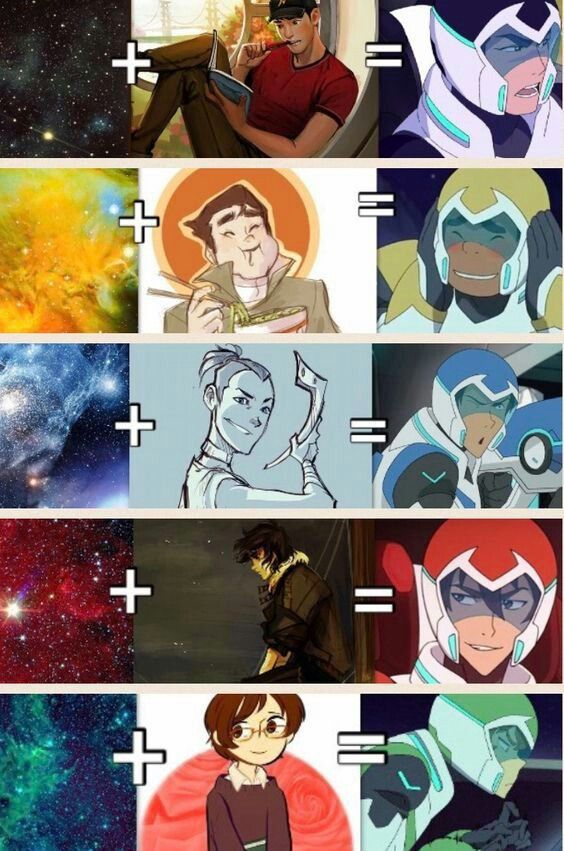 space characters paladins of voltron books cartoons movies