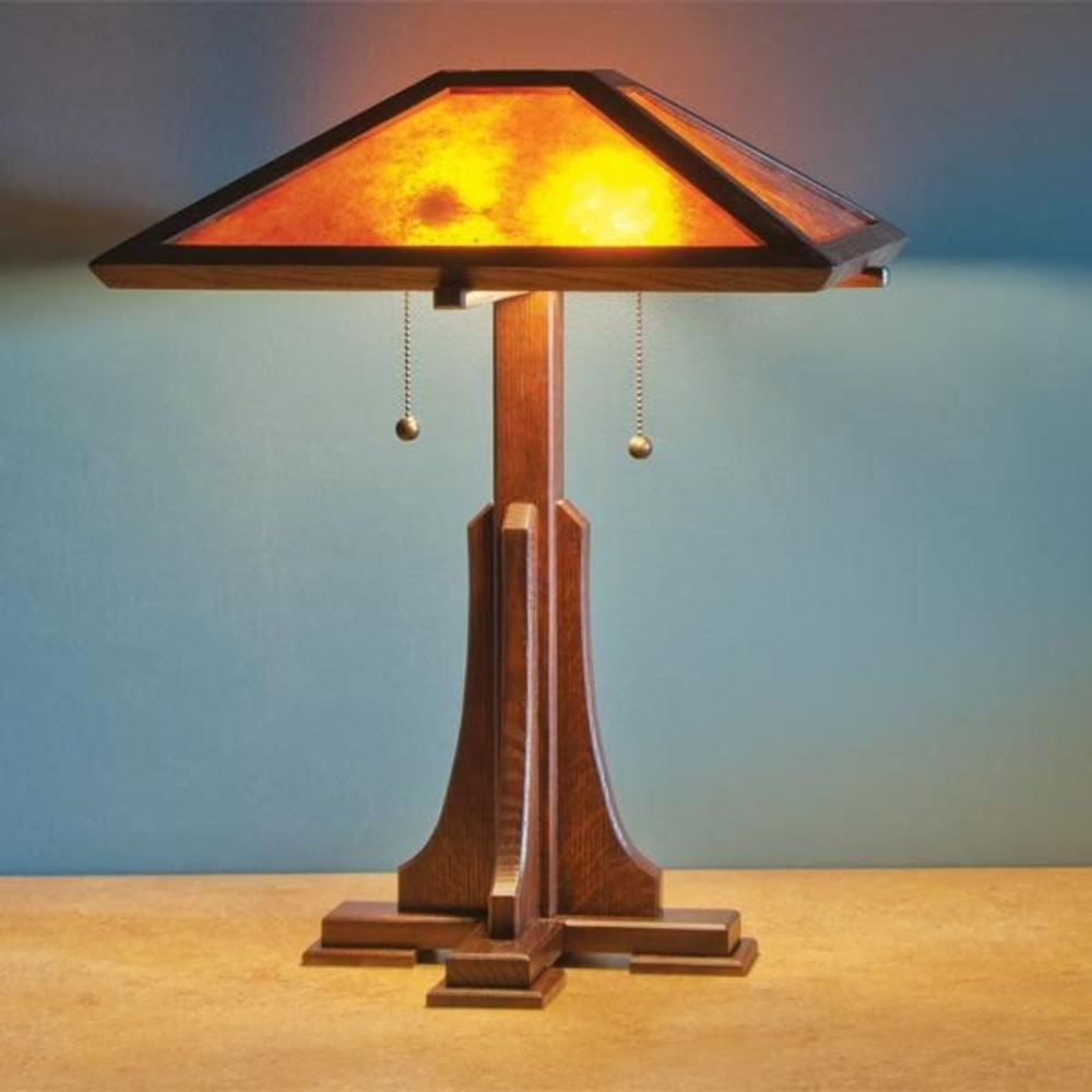 Magazine Arts And Craft Lamp Downloadable Plan Lamp Woodworking Plans Craftsman Floor Lamps Craftsman Style Table