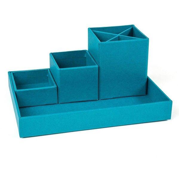 Stackable Boxes Home Decor Bigso Box Of Sweden Lena 4Pcdesktop Organizer Blue 115 Vef