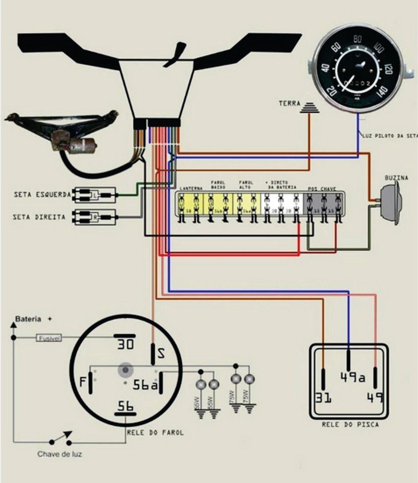 esquema 12 volts esquema eltrico fusca completo buggy
