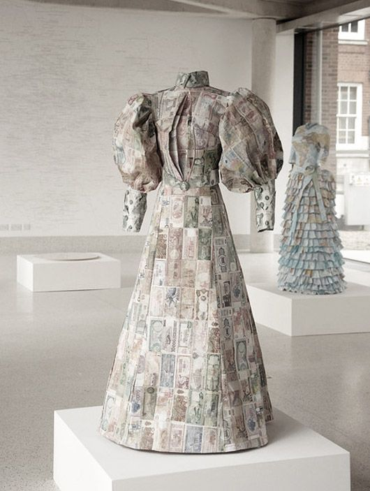 These dresses made of paper maps and money are Susan Stockwell's sculptural study on colonialism and the British empire.