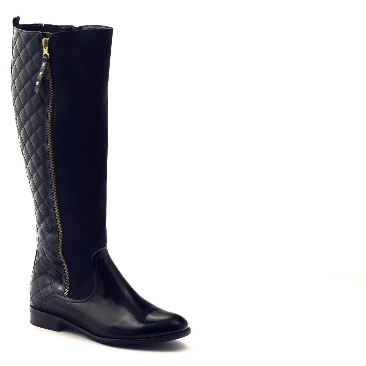 Kozaki Buty Damskie Lakierowane Pikowane 1800 Czarne Riding Boots Boots Shoes
