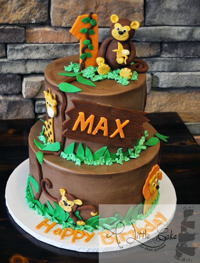 Jungle Theme Cake for Boys past weekend we made max a ...