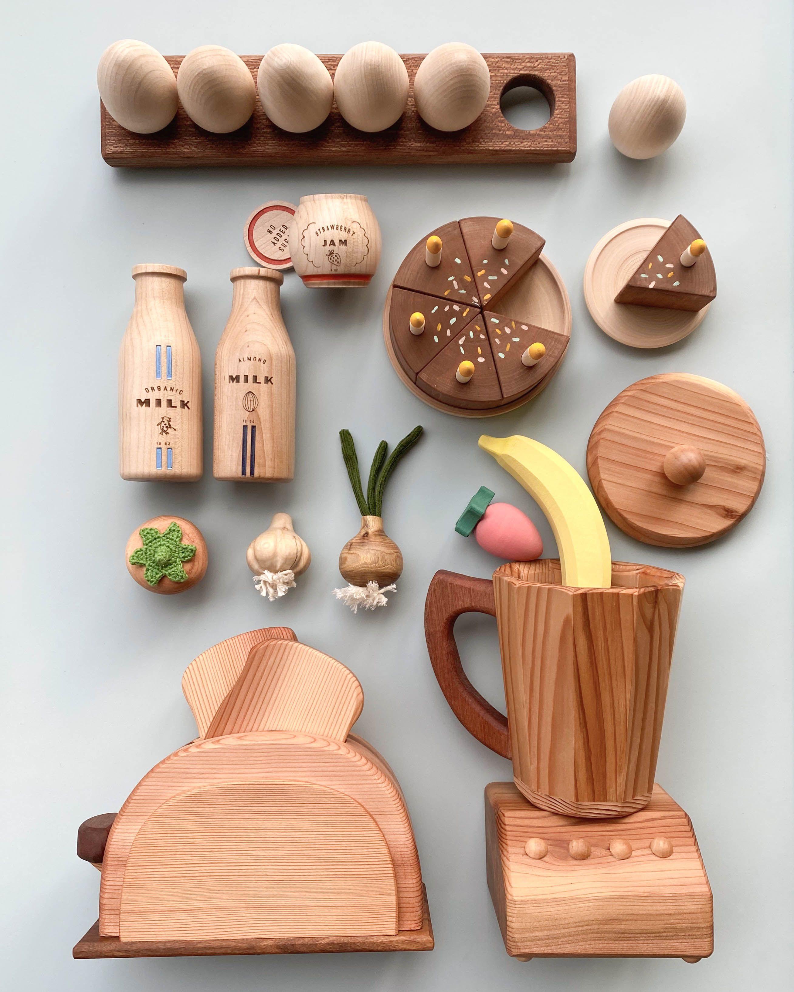 Wooden breakfast kitchen set