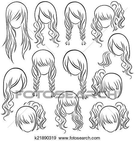 Photo of Female hairstyle clip art – new hairstyles