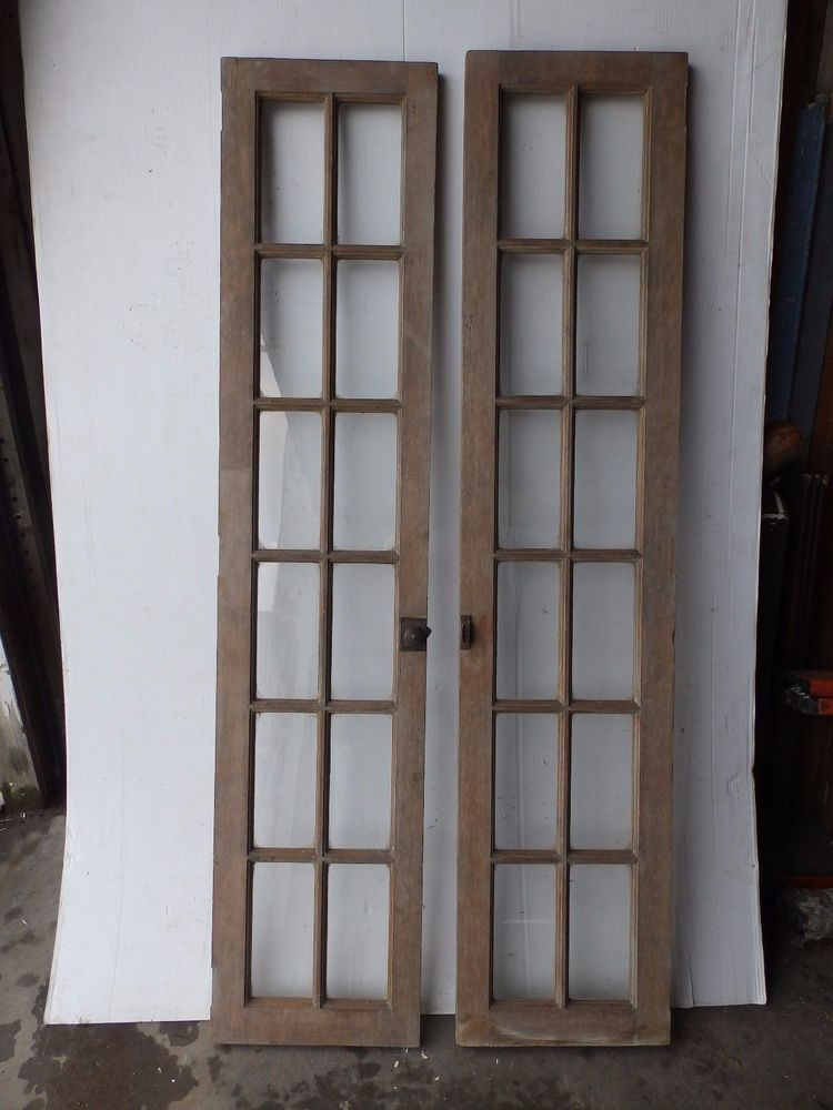 Nice Pair Of Antique 12 Lite French Doors They Are A Nice Natural Color These Doors Are Solid These Could Be Us Antique French Doors Antiques Antique Windows