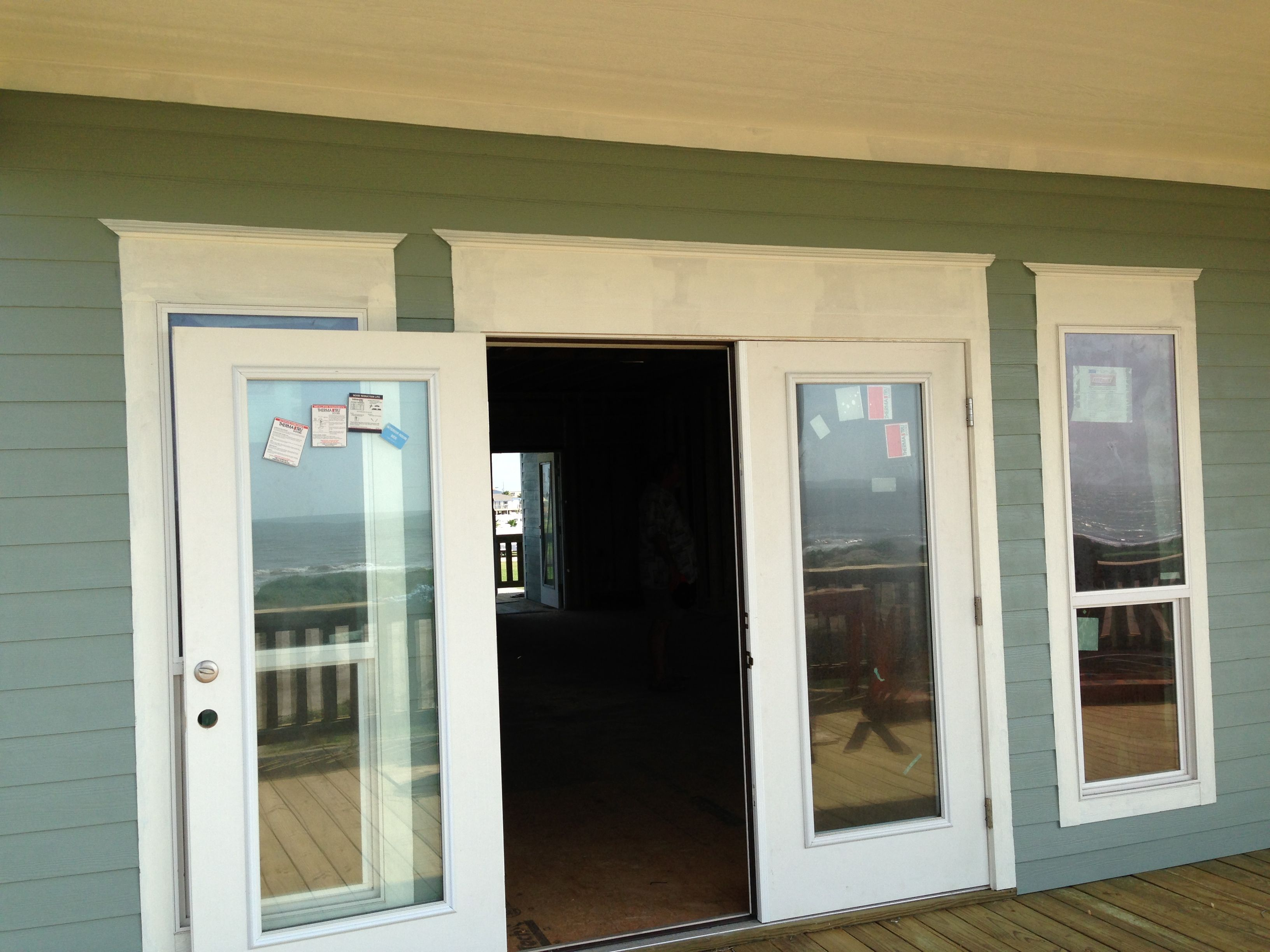 Two front windows retrofit installation in st catharines -  877244 Trim Around Front Doors And Windows My Beach House Pinterest Front Doors With Windows