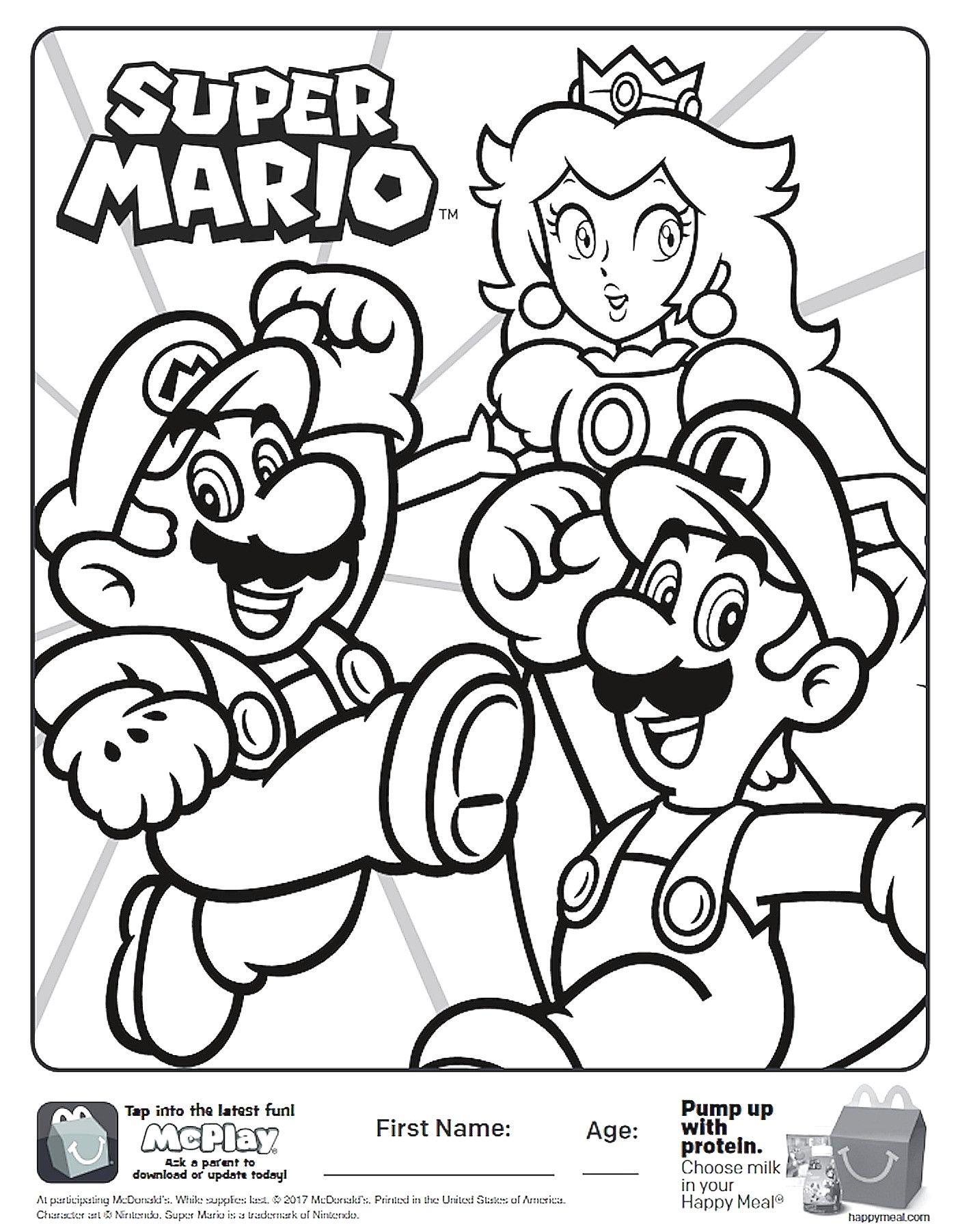 Super Mario Bros Coloring Pages Super Mario Bros Coloring