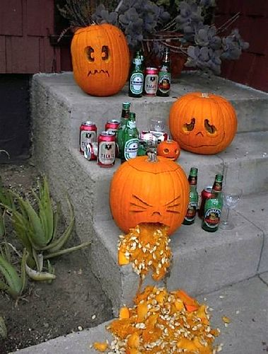 I like the puking one grool Pinterest Hilarious, Holidays and - halloween pumpkin decorations