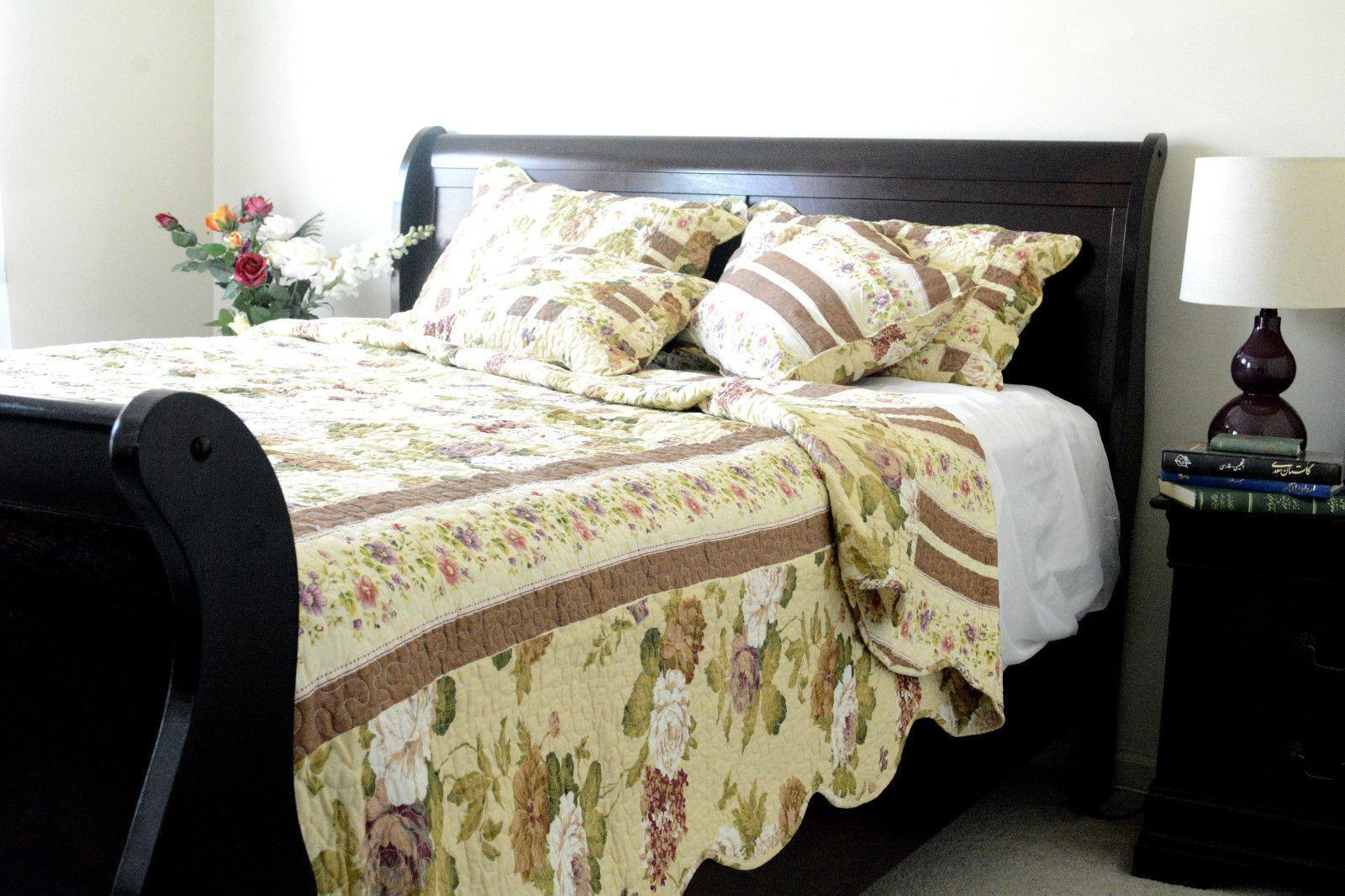 Dada Bedding Dusty Roses Garden Floral Patchwork Cotton Quilted