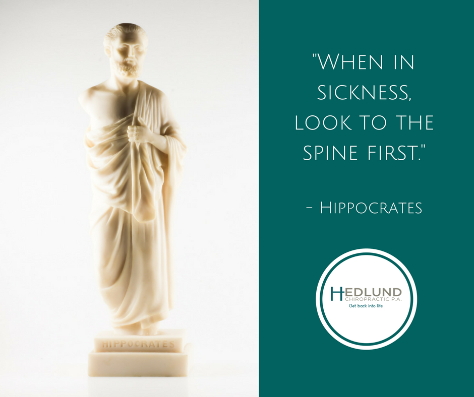 """When in sickness, look to the spine first."" chiropractic"