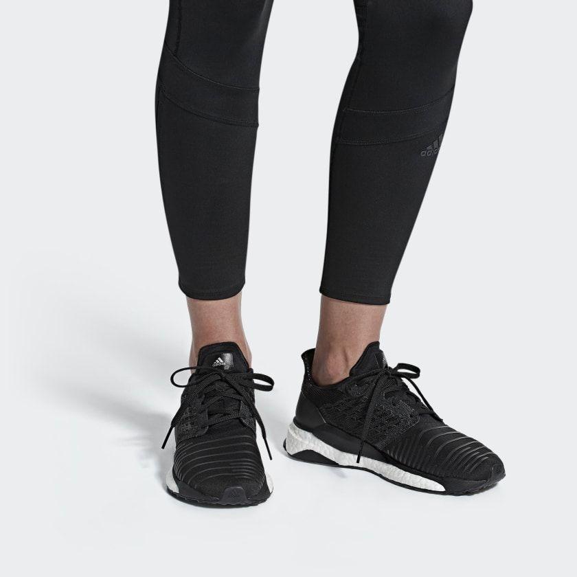 instinto Sobretodo Agarrar  Solar Boost Shoes Core Black / Grey Four / Ftwr White BC0674 | Boost shoes,  Adidas women, Black adidas