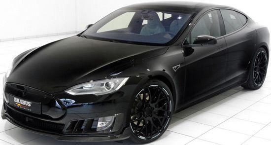 Brabus Tesla Model S Black Edition Extravaganzi Tesla Model S Tesla Model S Black Tesla Model