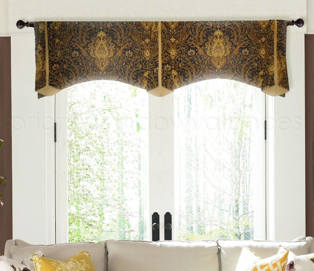 Window coverings types  arched trumpet rod pocket valance in   windows  pinterest