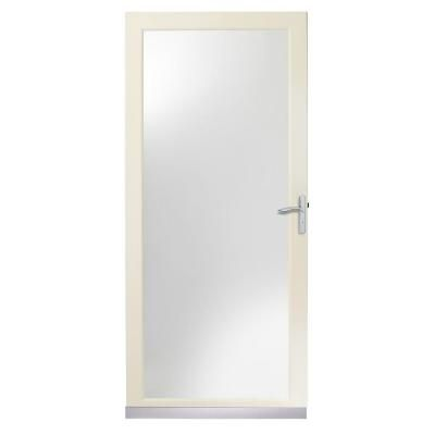 Andersen 4000 Series 36 In Almond Full View Storm Door Insulated Glass With Nickel Hardware Hd Full View Storm Door Bathroom Under Stairs Tall Cabinet Storage