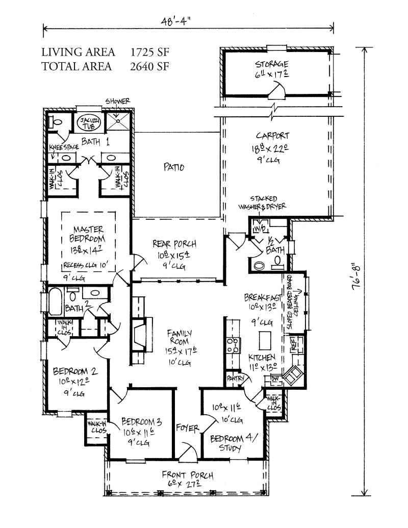 Tickfaw - Louisiana House Plans Acadian House Plans...I would leave ...