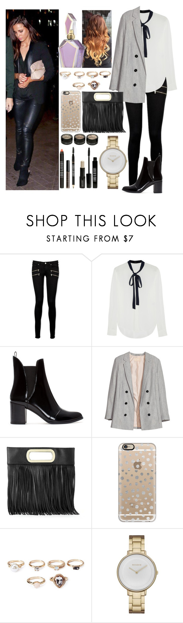 """""""Cirque le Soir with Sophia"""" by zandramalik ❤ liked on Polyvore featuring Paige Denim, Joseph, Zara, H&M, Gunne Sax By Jessica McClintock, Casetify, Forever 21, Skagen and Lord & Berry"""