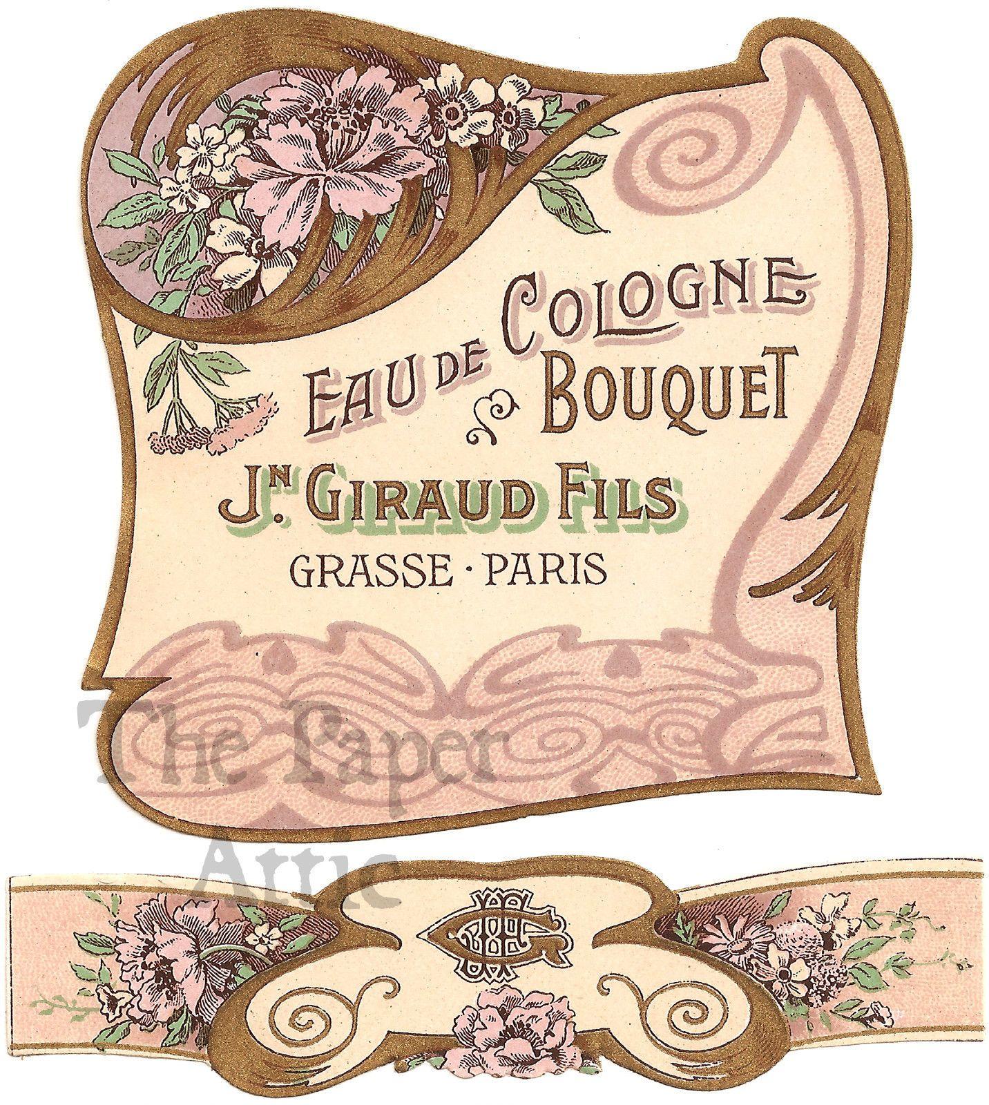 Antique French Art Nouveau Perfume Label