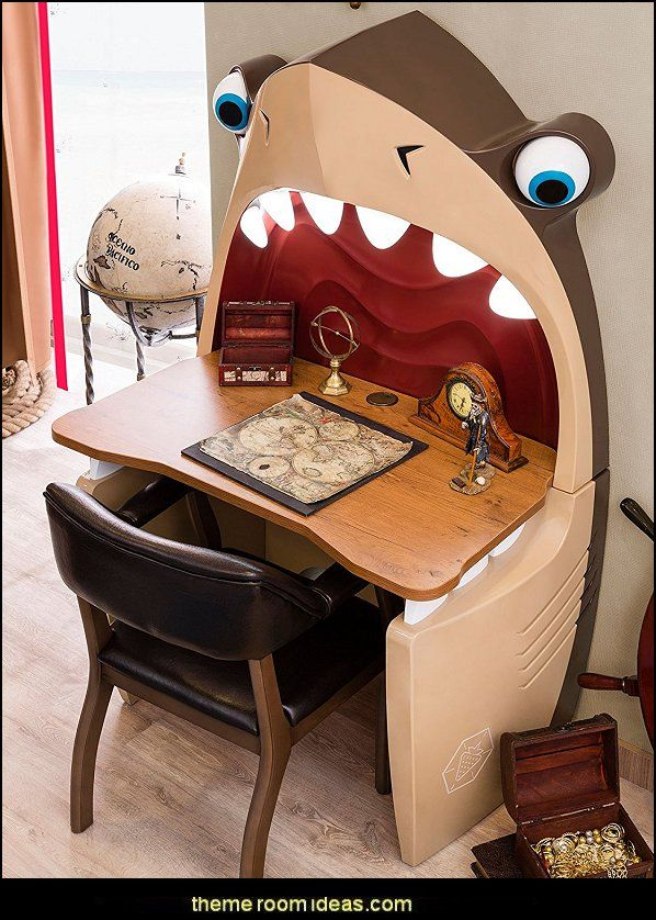 Shark Desk Shark Bedrooms   Shark Murals   Shark Bedding   Shark Decor   Shark  Wall