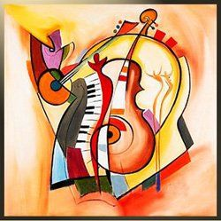 Canvas Modern Painting Music The Portrait Art Abstract
