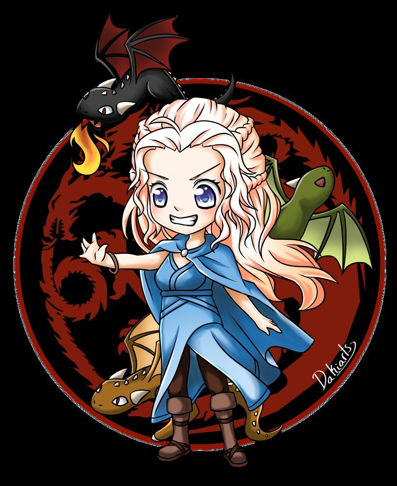 Fanart Chibi Daenerys By Dakiarts Chibi Chibi Games Game Of