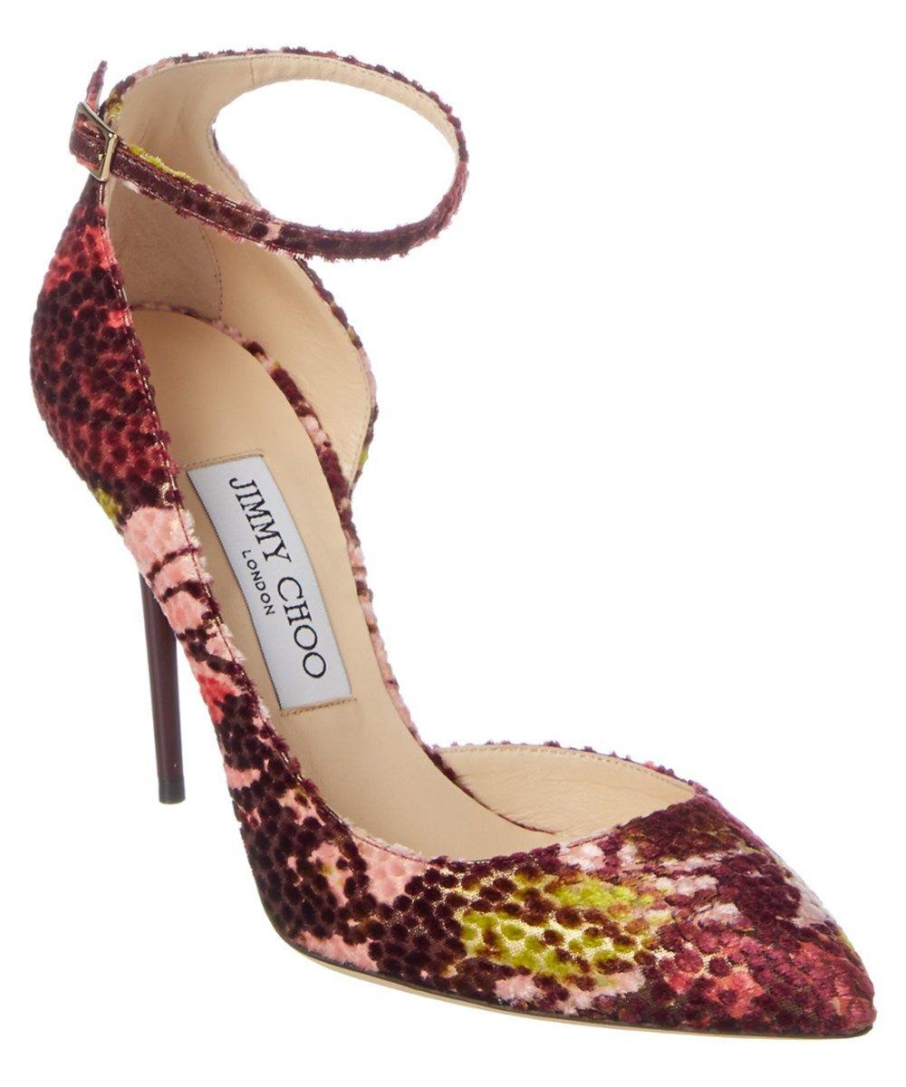 7f627c2c69b JIMMY CHOO Jimmy Choo Lucy 100 Floral Lame Fabric Pointy Toe Pump .   jimmychoo  shoes  pumps   high heels