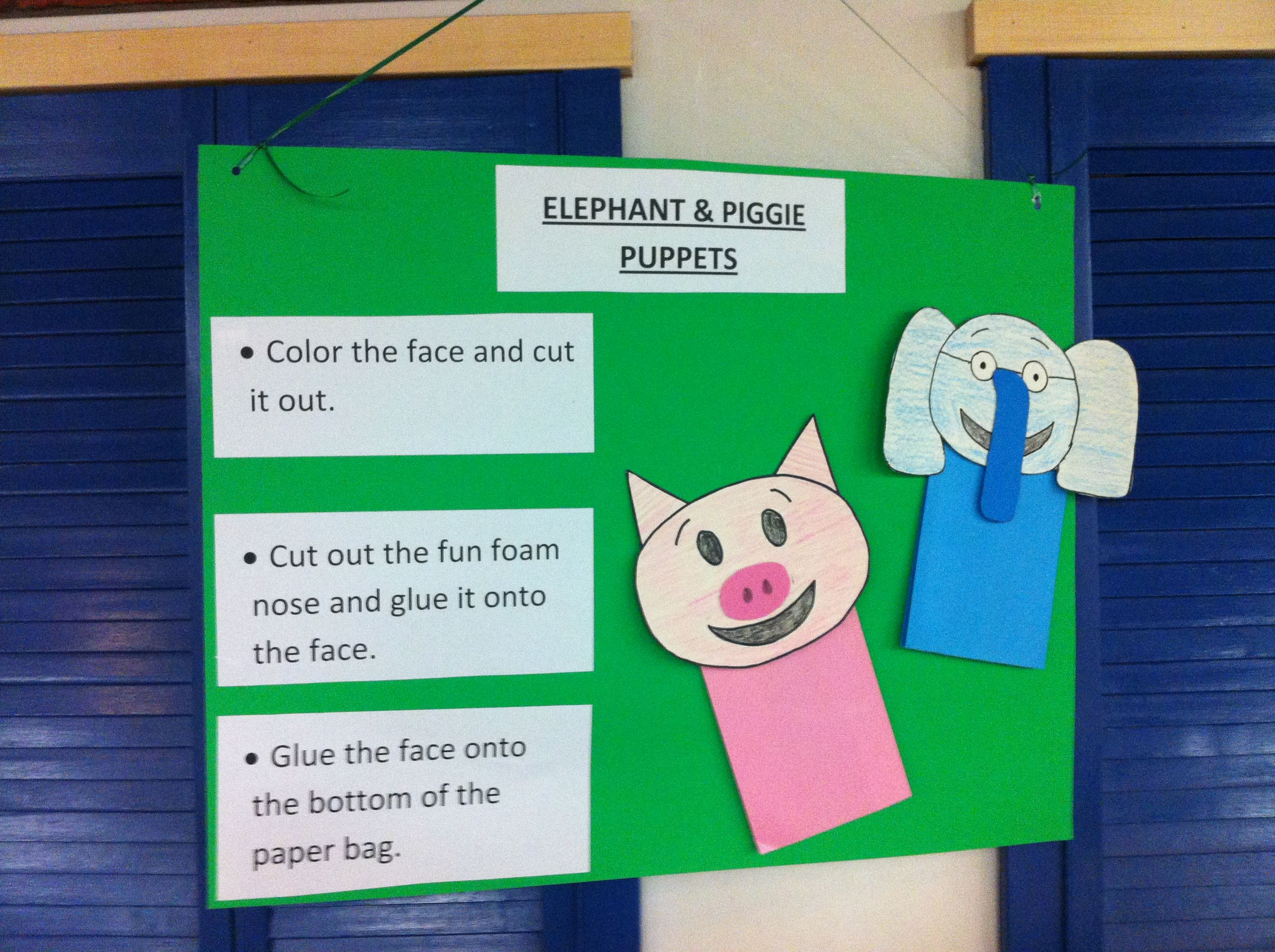Elephant and Piggie Day | ALSC Blog | Crafts for Picture Books ...