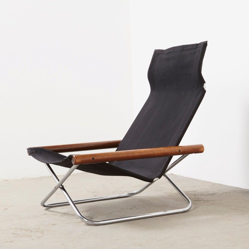NY Folding Lounge Chair By Takeshi Nii For Suekichi Uchida, 1950s