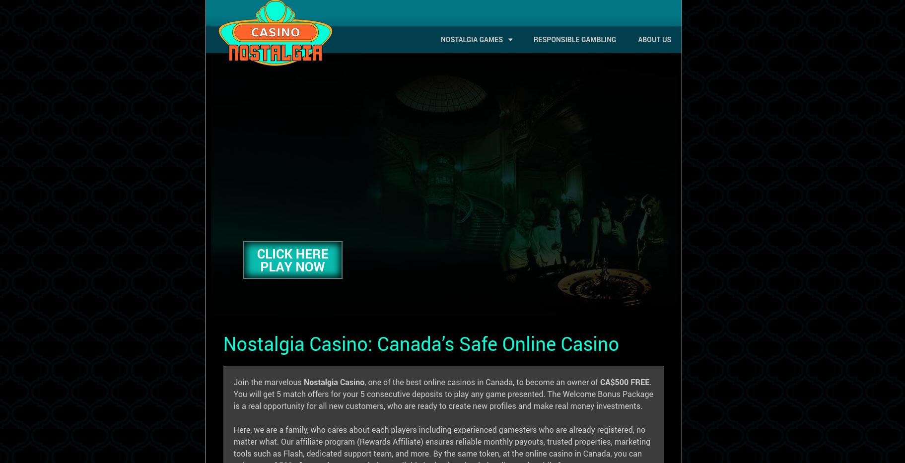Nostalgia Casino In 2020 Casino Online Casino Best Online Casino