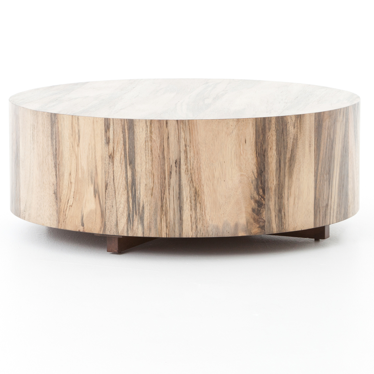 Hudson Spalted Rustic Wood Block Round Coffee Table Round Wood Coffee Table Coffee Table Coffee Table Wood