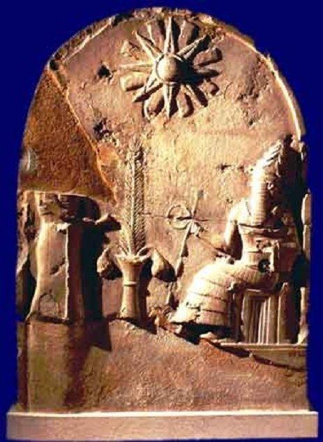 Sun God Shamash - relief votive from Babylonian religion