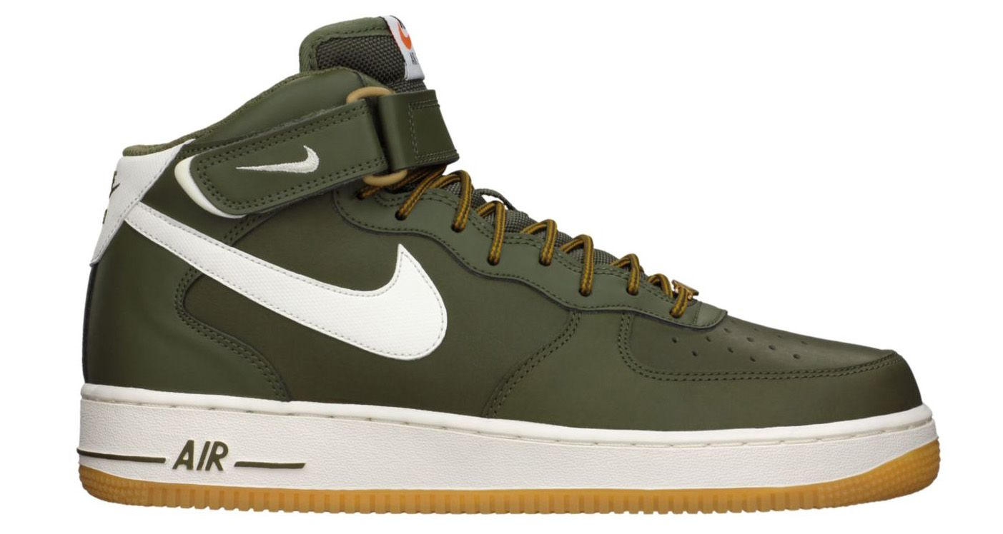 nike air force 1 mid olive green
