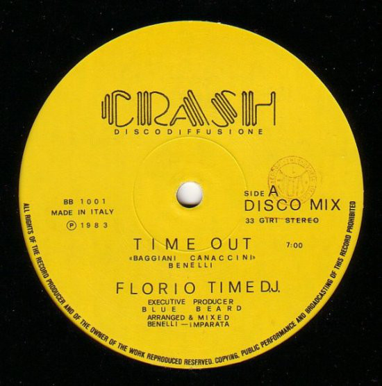 Florio Time D J Time Out Vinyl 12 1983 In 2020 Italo Disco Acquired Taste Dj