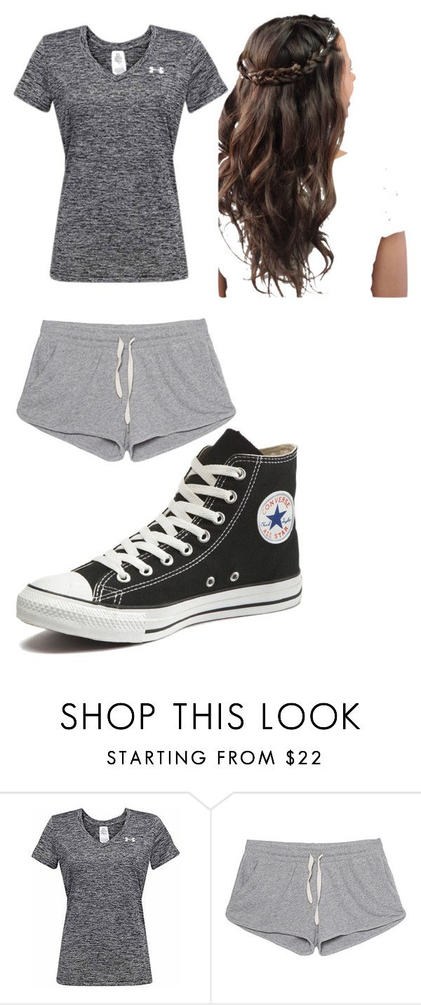 """Jogging"" by horse-lover13 ❤ liked on Polyvore featuring Under Armour, American Vintage and Converse"
