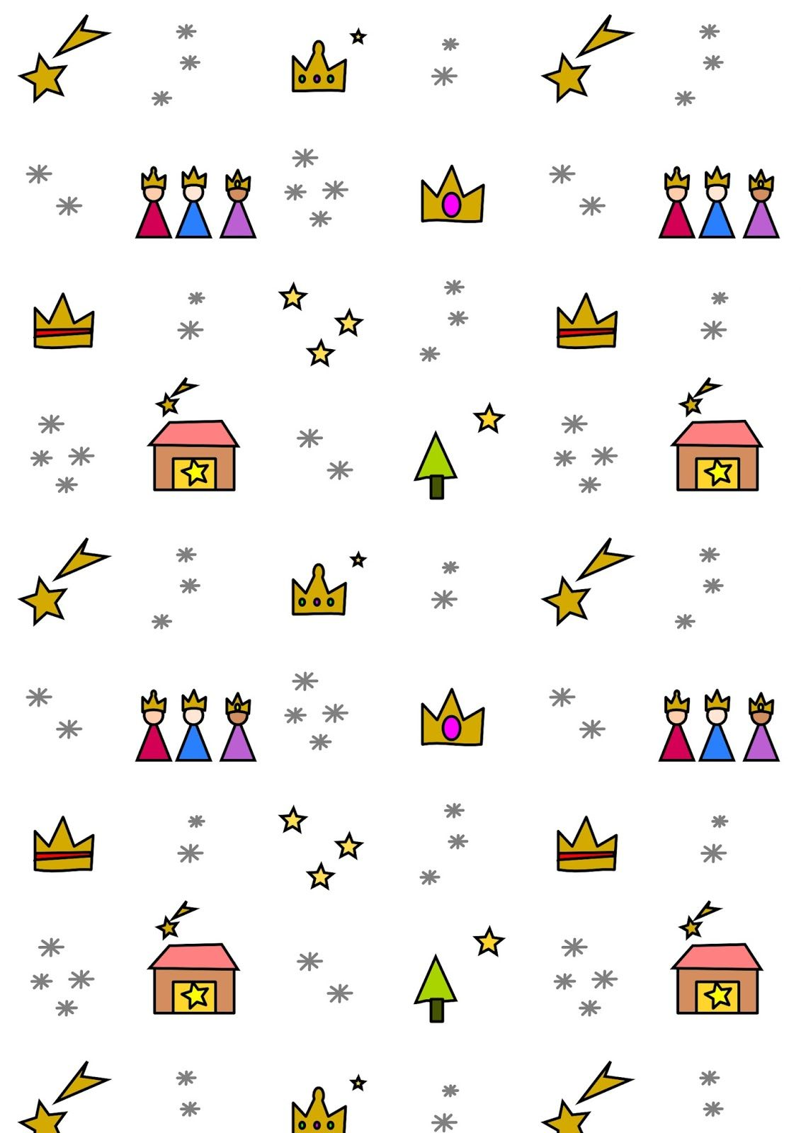 FREE printable Three King's Day paper