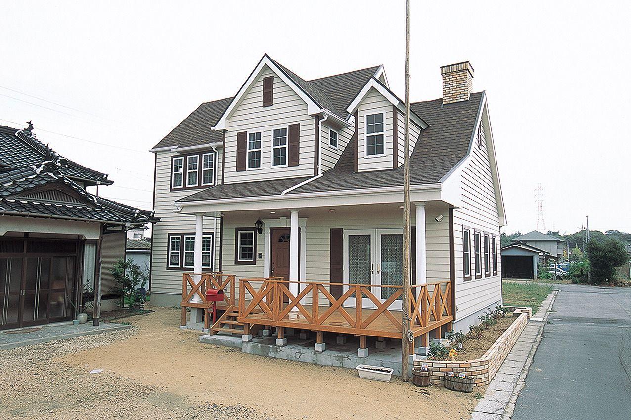 アメリカンテイストの外観 ブルースホーム小倉 輸入住宅 ホームウェア ホーム