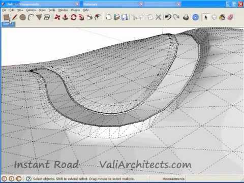 Sketchup Instant Road Plug In Create Road From Center Line