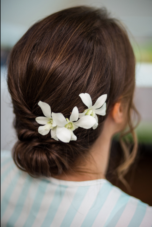 White Orchid Hair Flowers Orchid Hair Flowers Flowers In Hair White Orchids