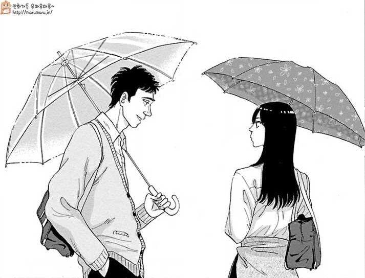우산 쓴 커플