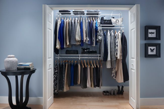Bedroom Closet Organization Using Wire Shelving ShelfTrack From