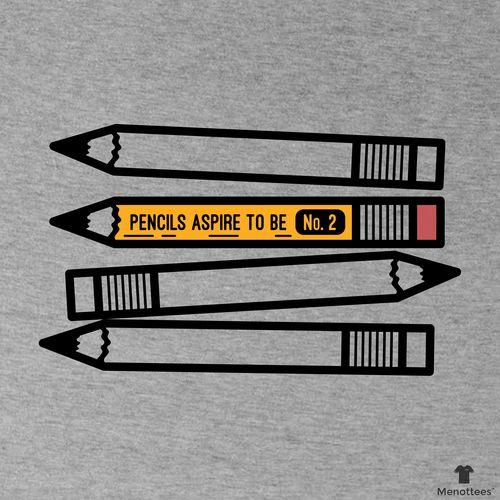 Pencils Aspire to be No. 2