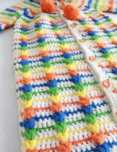 Puff Stitch Baby Bunting Crochet Pattern | Pinterest | Ganchillo ...