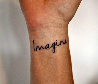Imagine Temporary Tattoo The Beatles Temporary Tattoo John