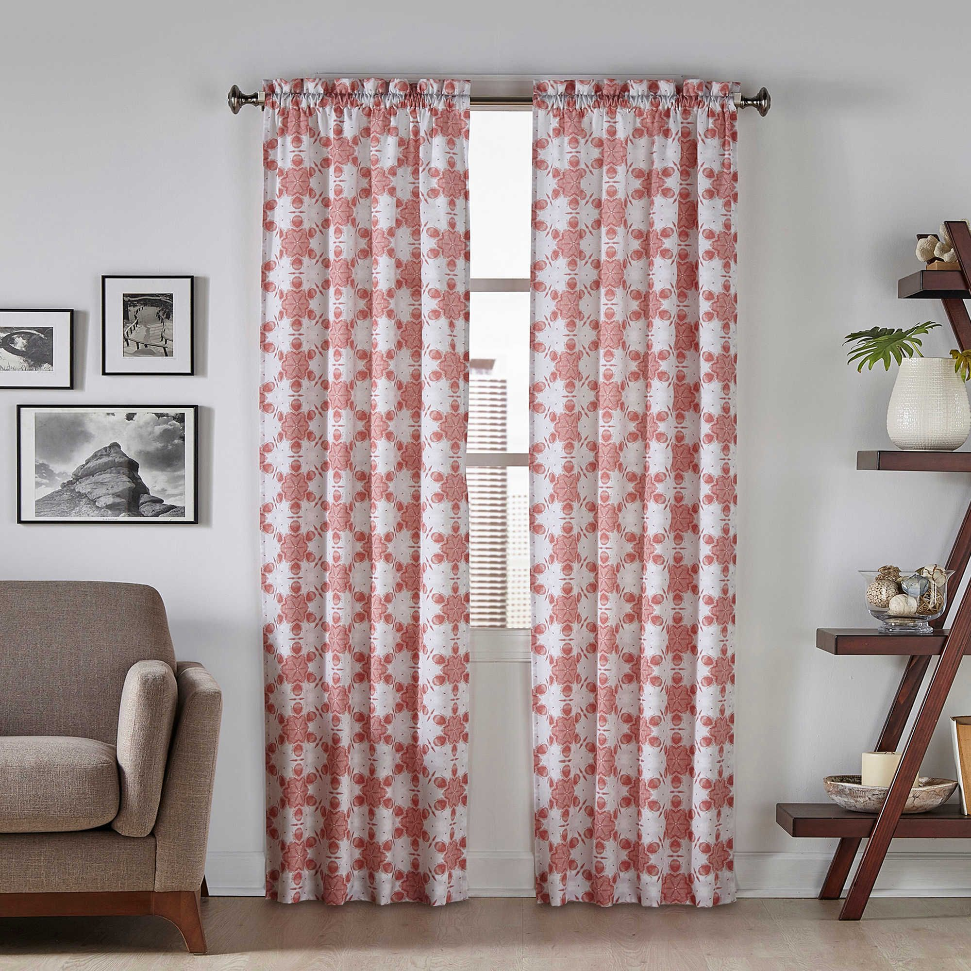 Pairs To Go Kesey Rod Pocket Window Curtain Panel Pair Rod