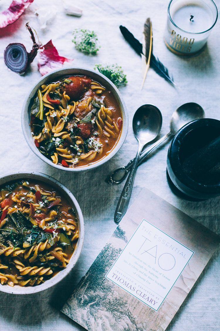 One-Pot 5-Spice Chickpea Noodle Soup (Vegan, Gluten Free) #chickpeanoodlesoup 5-Spice Chickpea Noodle Soup | vegan gluten free recipe via willfrolicforfood.com #chickpeanoodlesoup