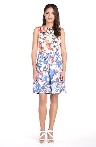 b23acb9354c6 Donna Morgan Floral Print Fit & Flare Dress | Anthropologie for Less ...
