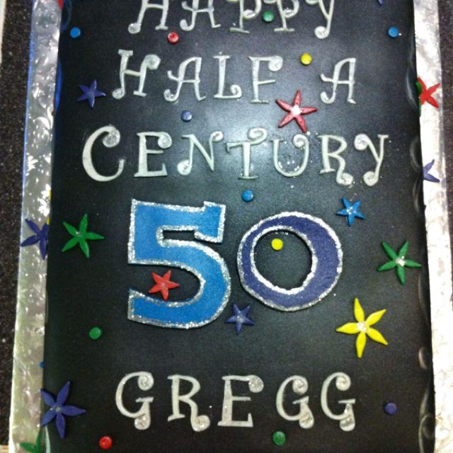 I love this half a century idea Dads birthday cake ideas