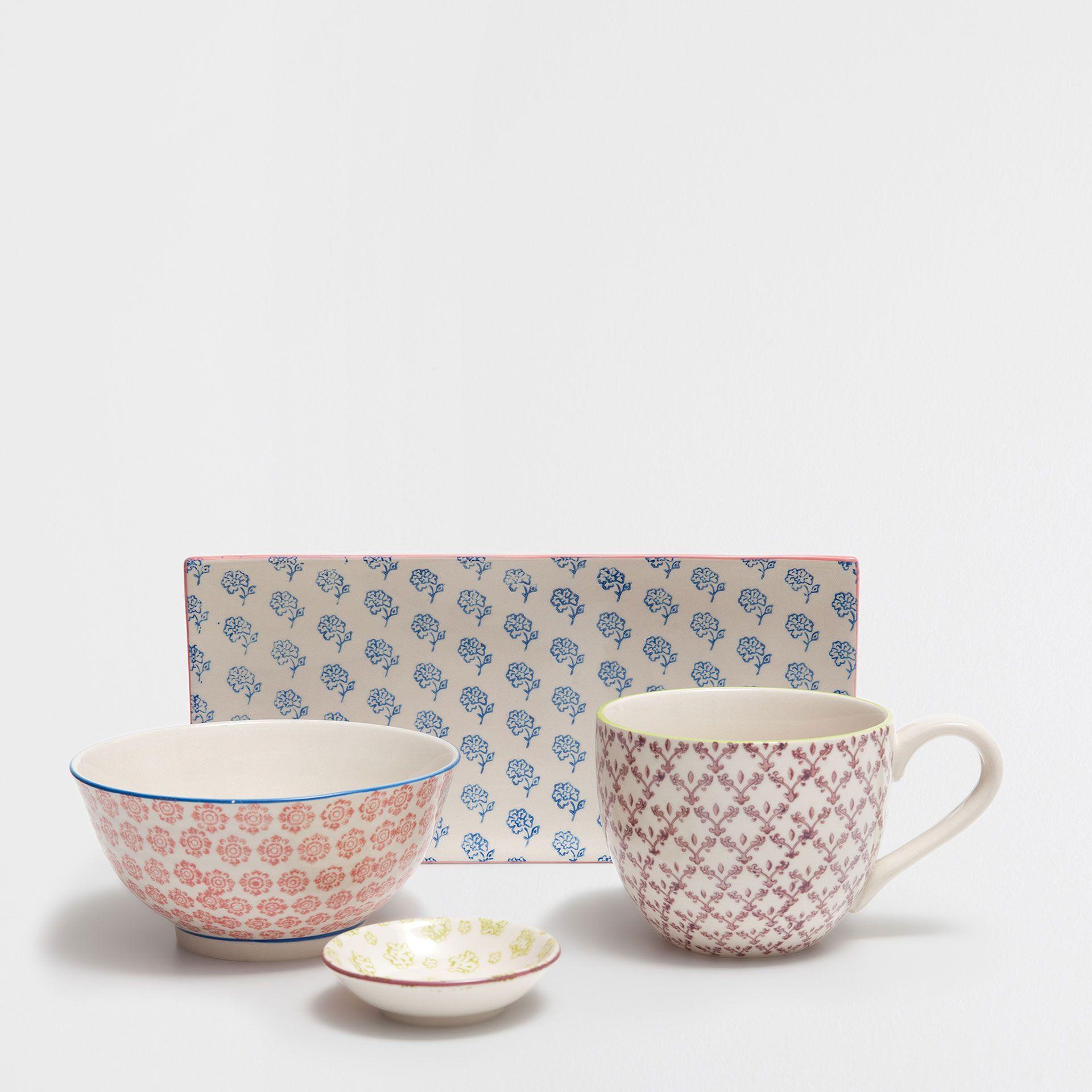 Conjunto porcelana motivo oriental - Café e Chá - Mesa | Zara Home Brasil